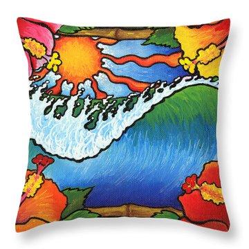 Window To The Tropics Throw Pillow