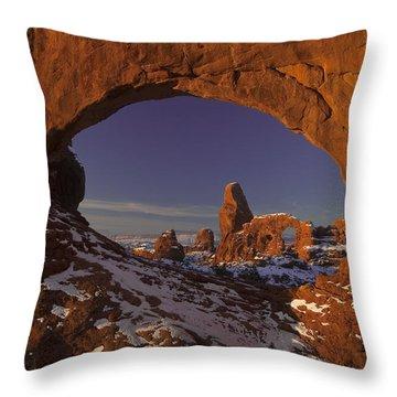 Window To Turret Throw Pillow