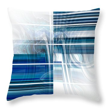 Window To Whirlpool Throw Pillow