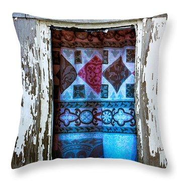 Window Toward The Sea Throw Pillow