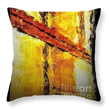 Window Throw Pillow by William Wyckoff