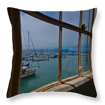 Throw Pillow featuring the photograph Window With A View by Laura Ragland