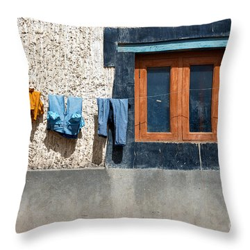 Throw Pillow featuring the photograph Window by Yew Kwang