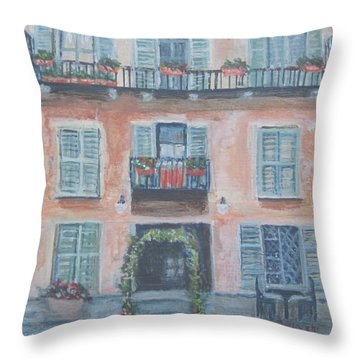 Windows And Shutters Throw Pillow