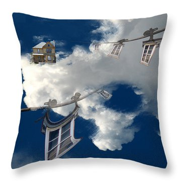 Windows And The Sky Throw Pillow