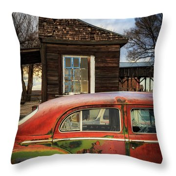 Throw Pillow featuring the photograph Windows by Cat Connor