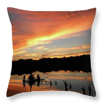 Windows From Heaven Sunset Throw Pillow