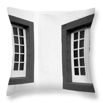 Windows Throw Pillow by Gaspar Avila