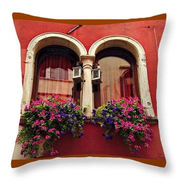 Windows In Venice Throw Pillow
