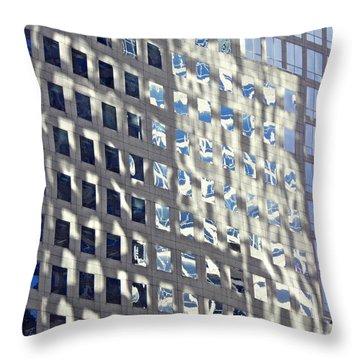 Throw Pillow featuring the photograph Windows Of 2 World Financial Center 2 by Sarah Loft