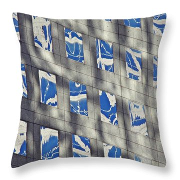 Throw Pillow featuring the photograph Windows Of 2 World Financial Center 3 by Sarah Loft