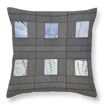 Throw Pillow featuring the photograph Windows Of 2 World Financial Center   by Sarah Loft