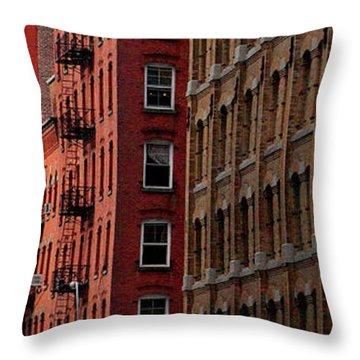 Windows Of New York Throw Pillow