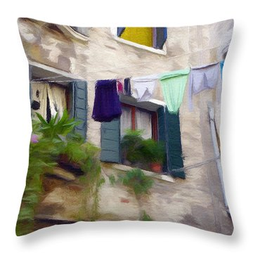 Windows Of Venice Throw Pillow