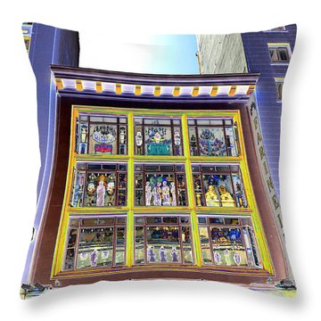Windows On Exibitions Throw Pillow