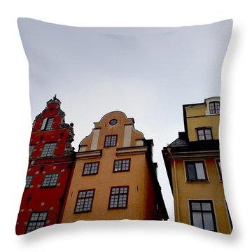 Windows On Gamla Stan Throw Pillow