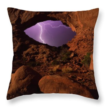 Windows Storm Throw Pillow by Darren White