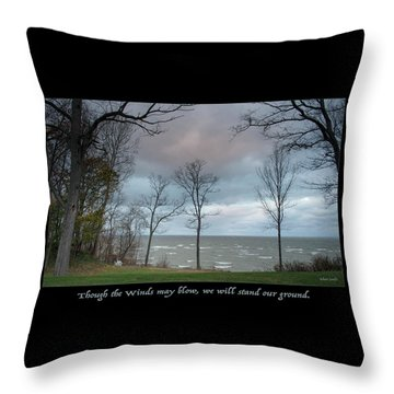 Winds May Blow Throw Pillow