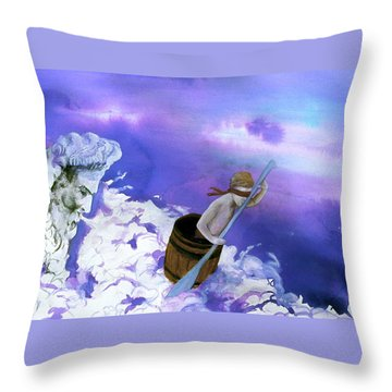 Throw Pillow featuring the painting Winds Of Fate  by Rene Capone