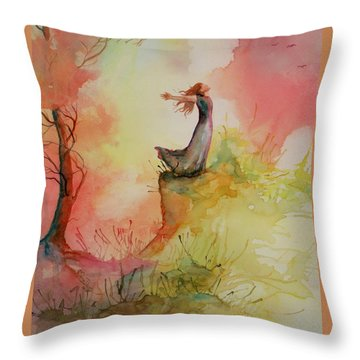 Winds Of Freedom Throw Pillow by Mona Davis