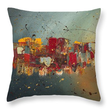 Throw Pillow featuring the painting Winds Of Prosperity by Carmen Guedez