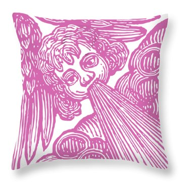 Throw Pillow featuring the drawing Winds Tess by Edward Fielding