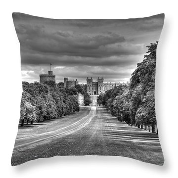 Windsor Castle  Infrared Throw Pillow