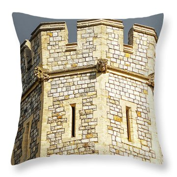 Throw Pillow featuring the photograph Windsor Castle Detail by Joe Winkler