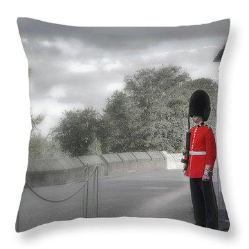 Windsor Castle Guard Throw Pillow