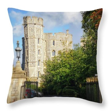 Throw Pillow featuring the photograph Windsor Castle by Joe Winkler