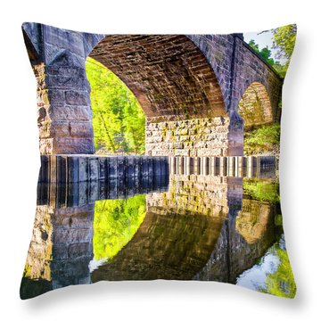 Throw Pillow featuring the photograph Windsor Rail Bridge by Tom Cameron