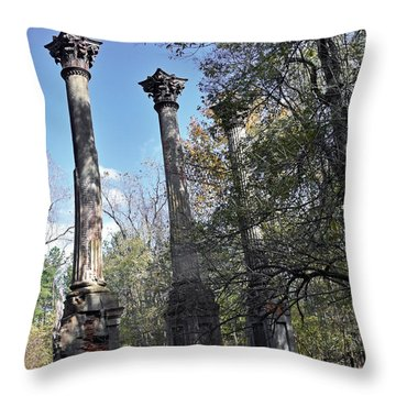 Windsor Ruins Throw Pillow by Helen Haw