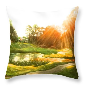 Windstone 13th Green Throw Pillow