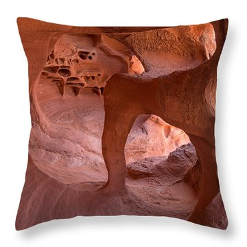 Throw Pillow featuring the photograph Windstone Arch by Patricia Davidson