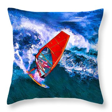 Windsurfer 1 Throw Pillow
