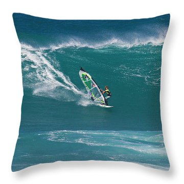 Windsurfer At Hookipa, Maui Throw Pillow