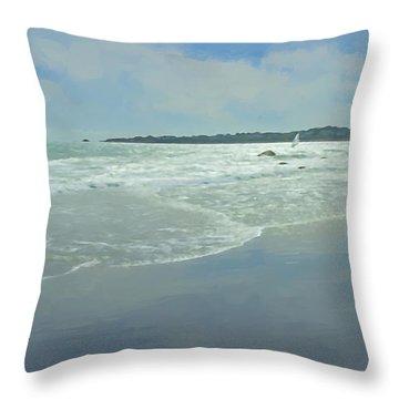 Windsurfer Little Compton, Ri Throw Pillow
