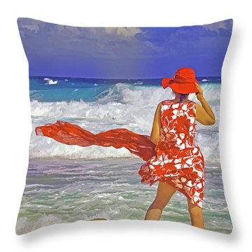 Windswept Throw Pillow by Dennis Cox WorldViews
