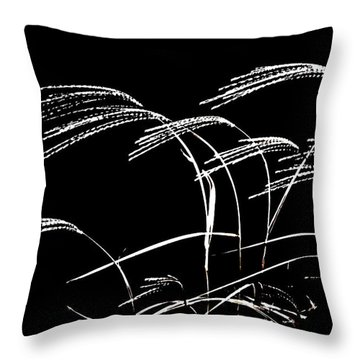 Windswept Grasses Throw Pillow