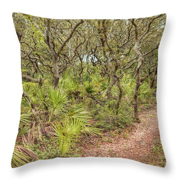 Throw Pillow featuring the photograph Windswept Hammock by John M Bailey
