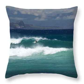 Windswept Ho'okipa Throw Pillow
