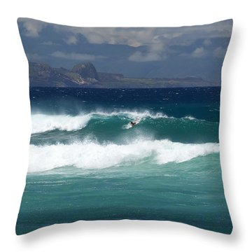 Windswept Ho'okipa Throw Pillow