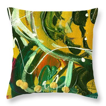 Throw Pillow featuring the painting Windswept Iv by Angela L Walker