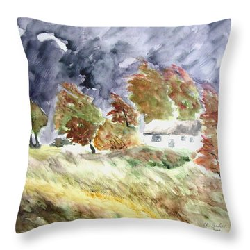 Windswept Landscape Throw Pillow
