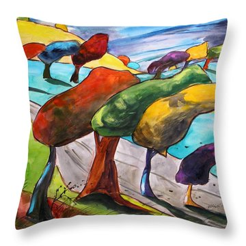 Windswept Morning Throw Pillow