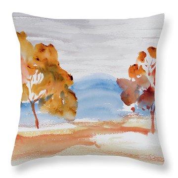 Windy Autumn Colours  Throw Pillow
