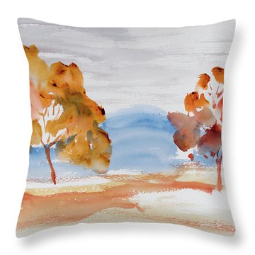 Windy Autumn Colours  Throw Pillow