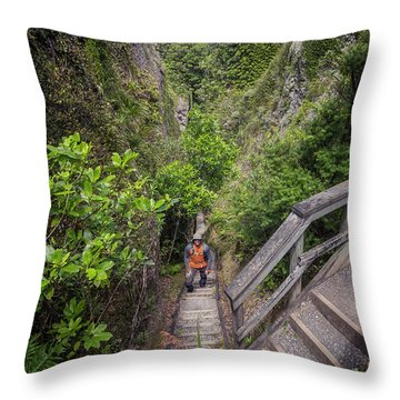 Windy Canyon Great Barrier Island New Zealand Throw Pillow