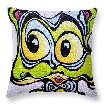 Windy Cindy Throw Pillow