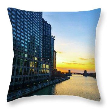 Windy City Sunrise Throw Pillow